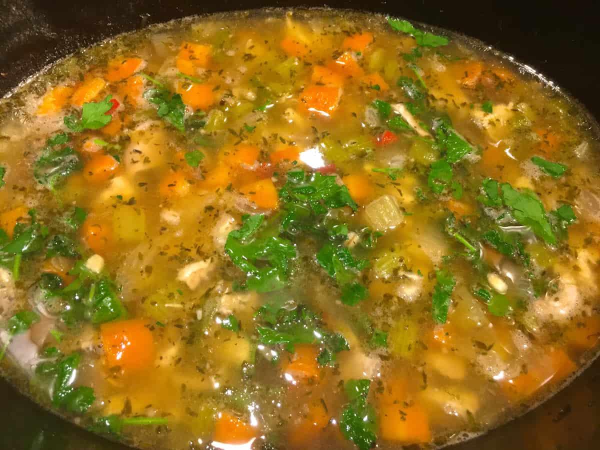 chicken feet soup in crock pot