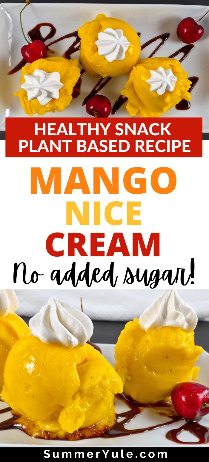 how to make mango nice cream