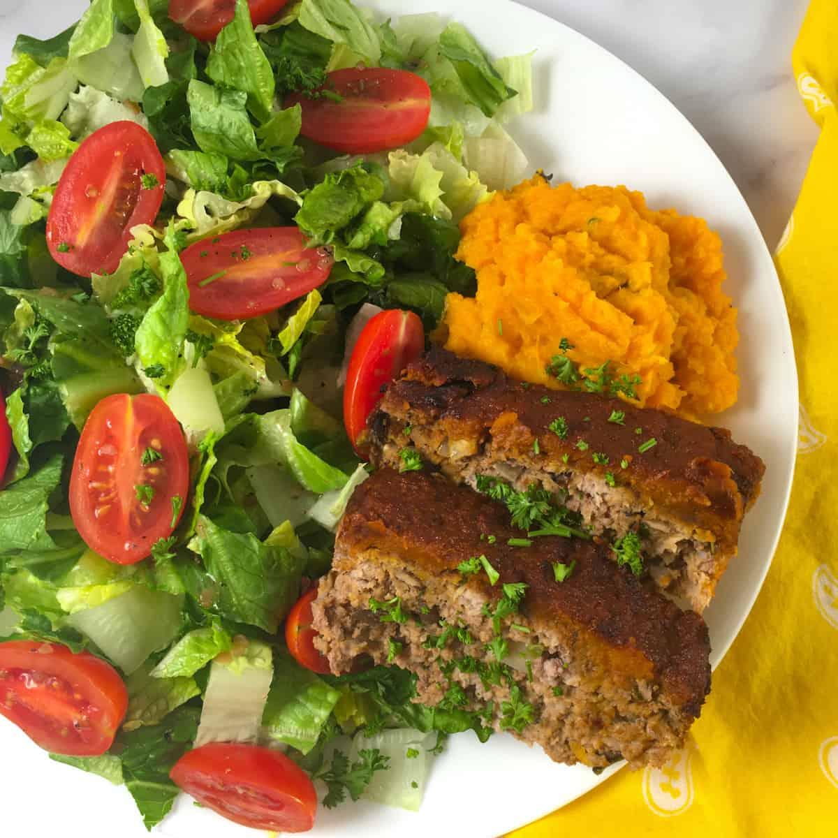 meat loaf salad sweet potatoes