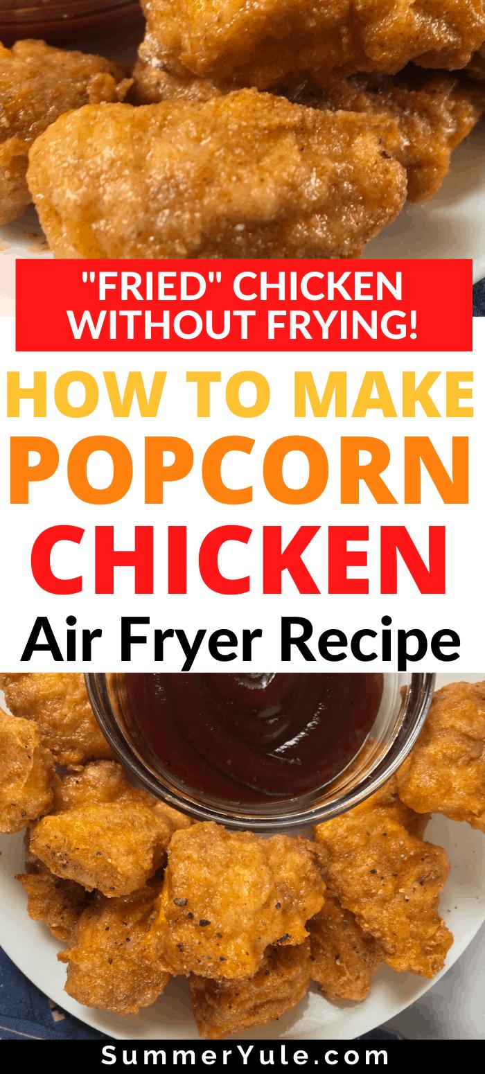 air fry popcorn chicken