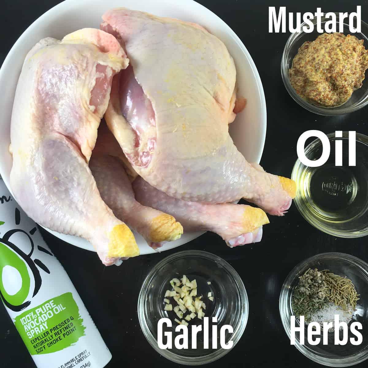 air fryer chicken legs ingredients