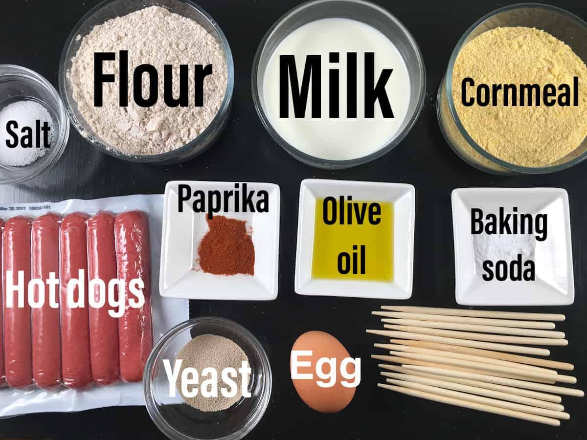 air fryer corn dogs ingredients