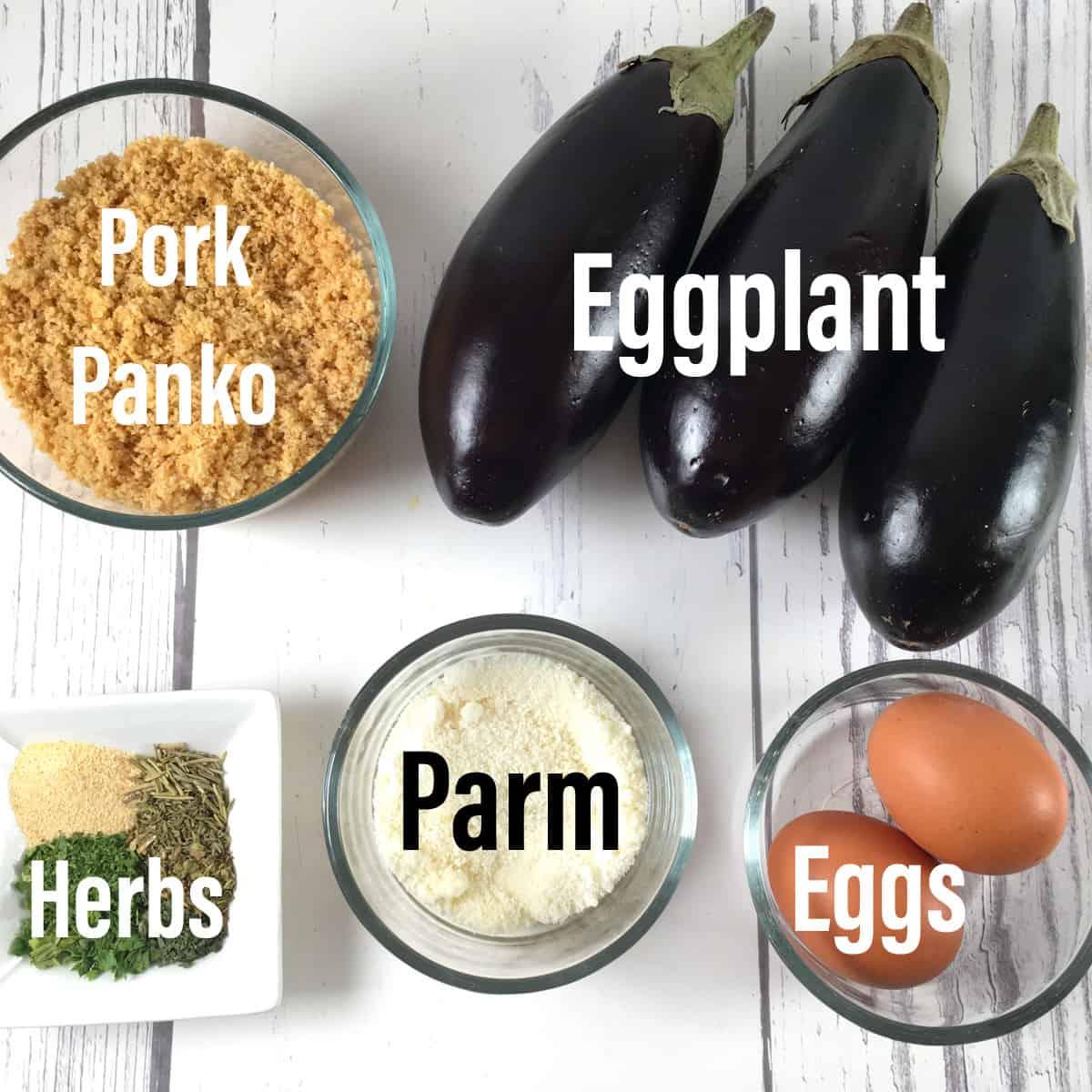air fryer eggplant fries ingredients