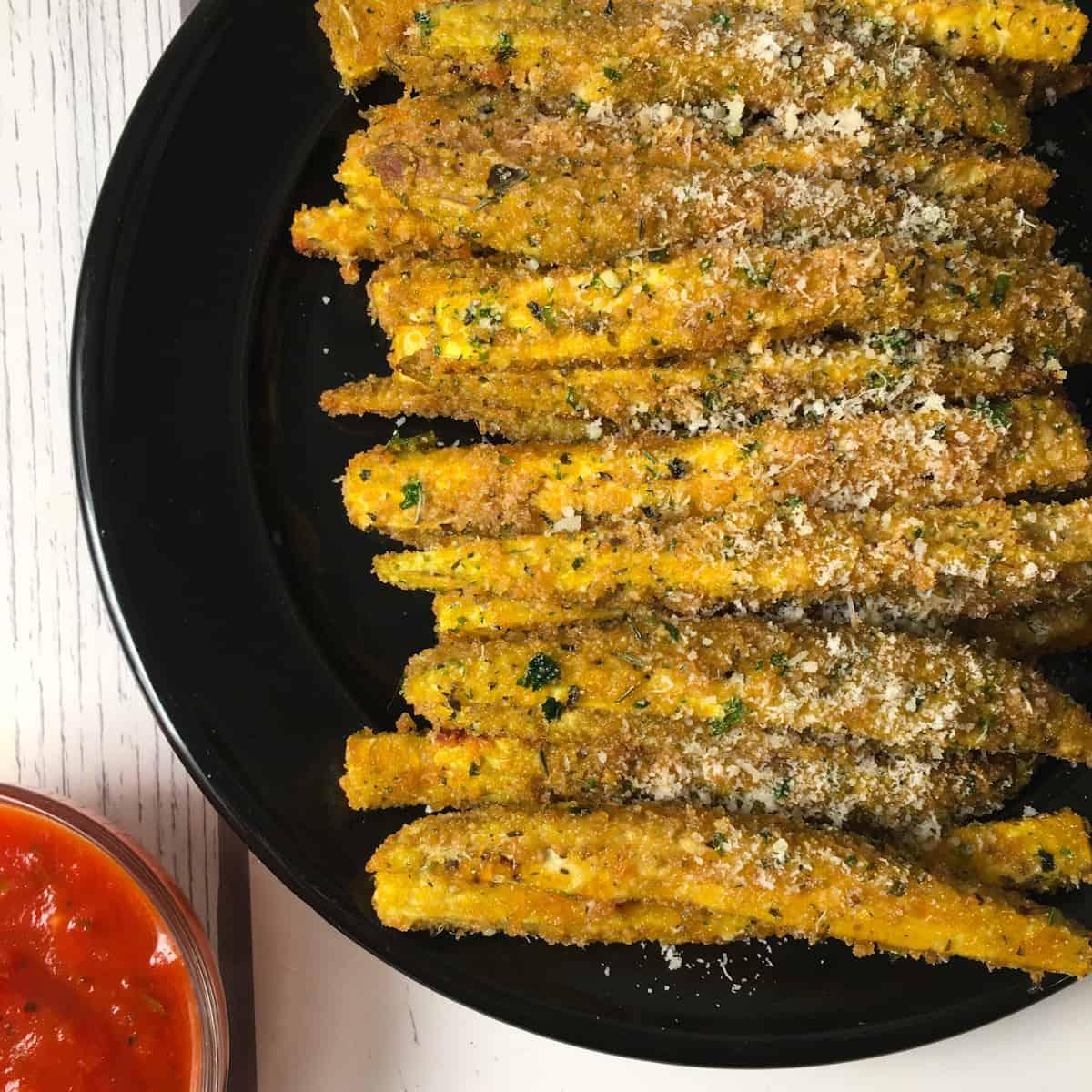 air fryer eggplant fries
