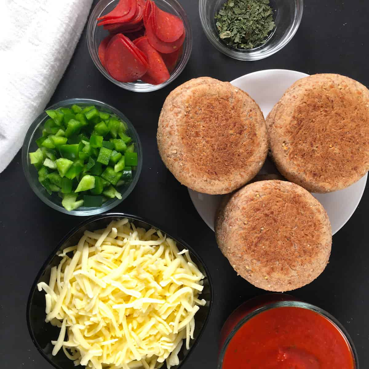 air fryer english muffin pizza ingredients