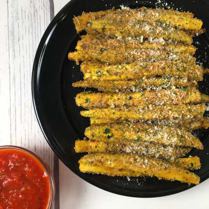 fried eggplant fries air fryer recipe