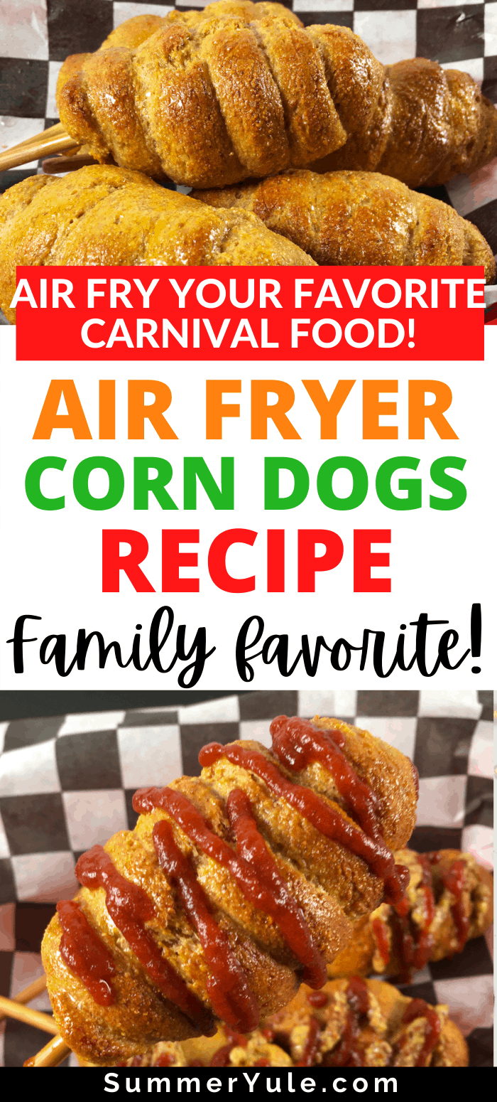 how to make air fryer corn dogs