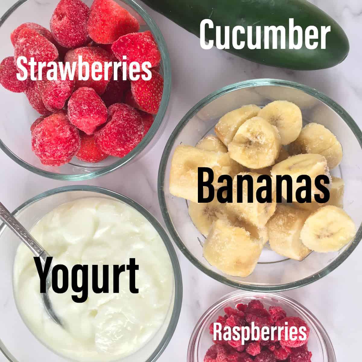 strawberry cucumber smoothie ingredients