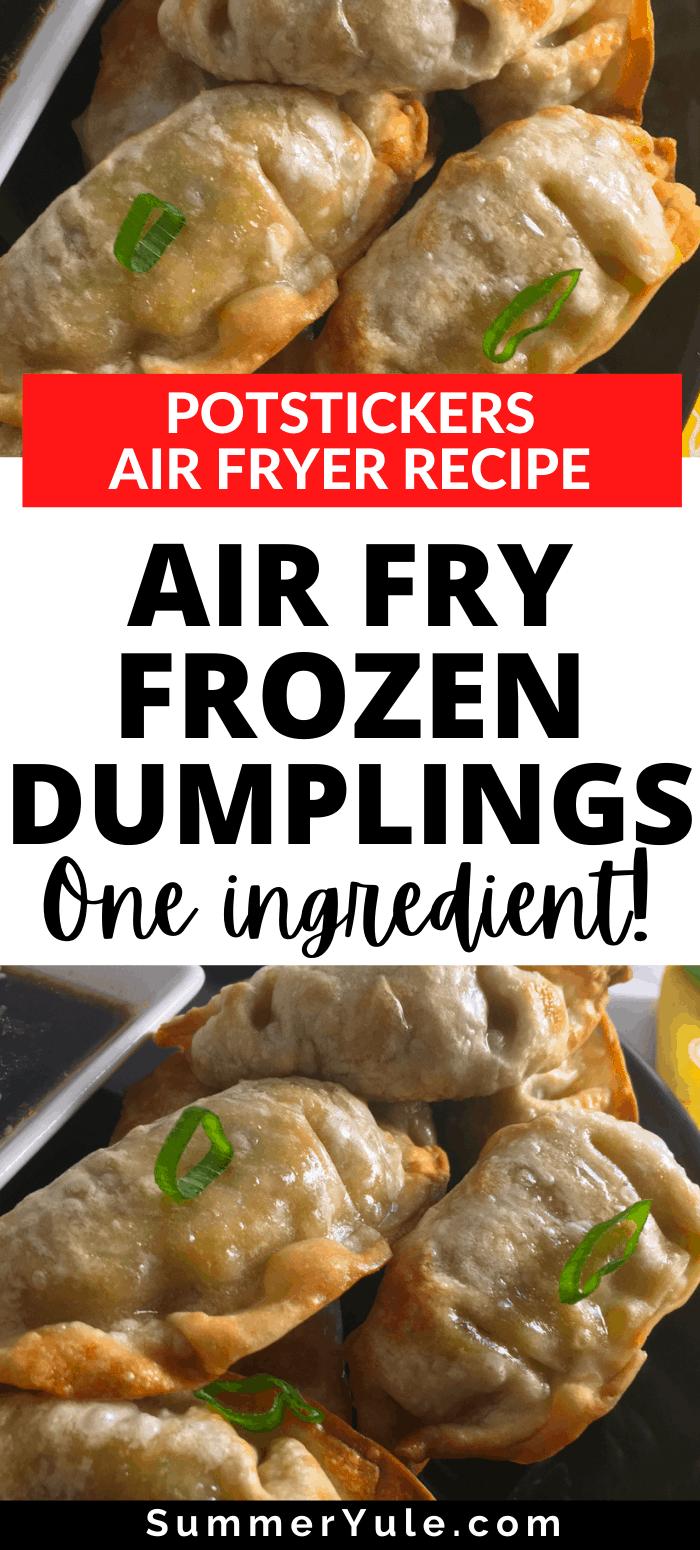 air fry frozen dumplings potstickers gyoza