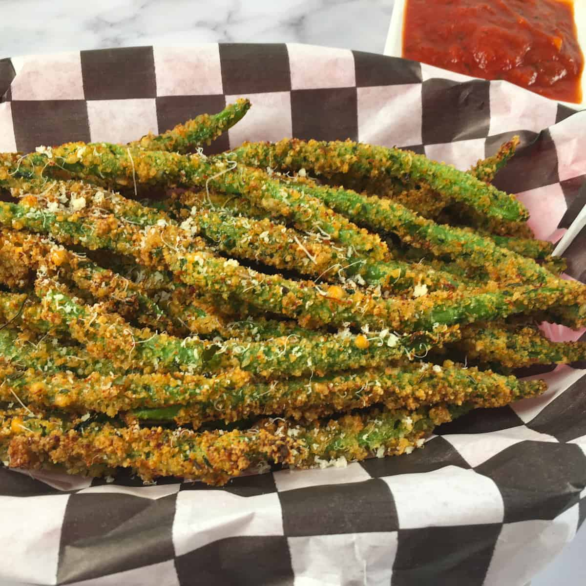 air fryer green bean fries low carb