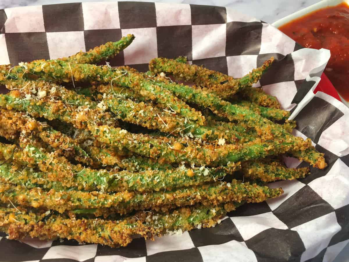 air frying green bean fries