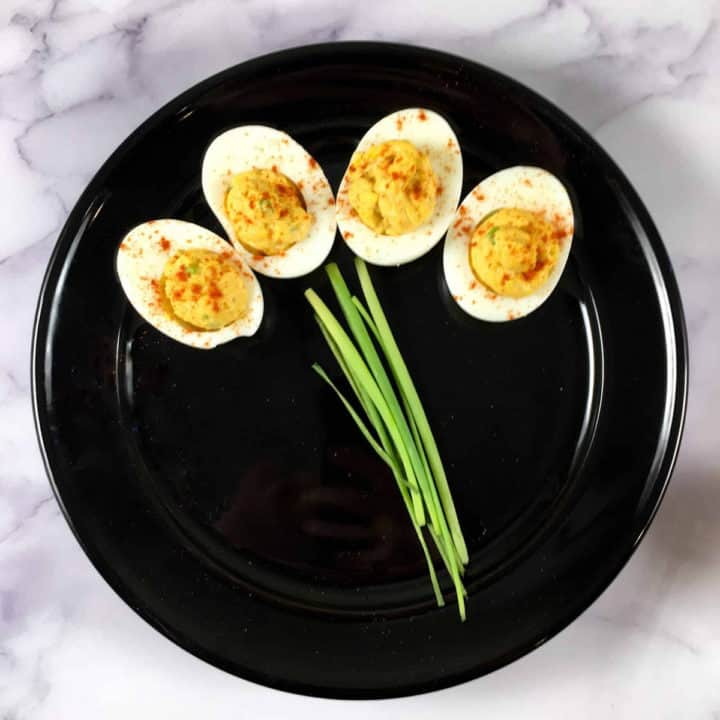 easiest deviled eggs chipotle lime mayo