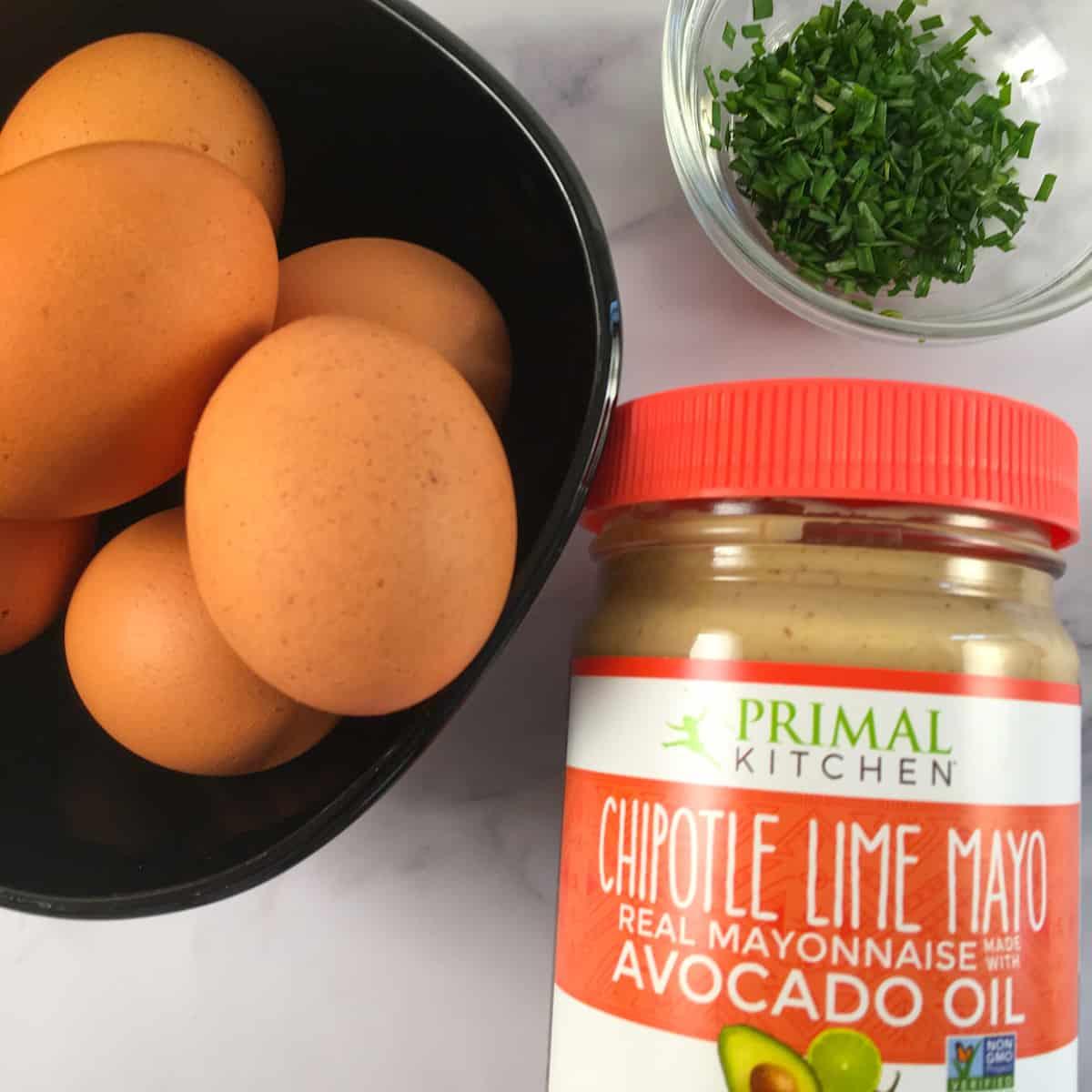 keto deviled eggs ingredients