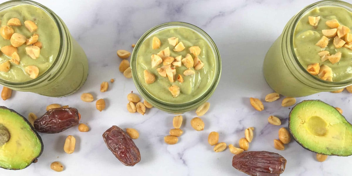 no added sugar smoothie peanut butter avocado