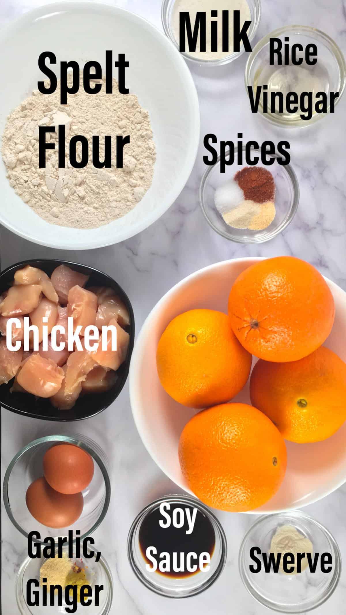 air fryer orange chicken ingredients