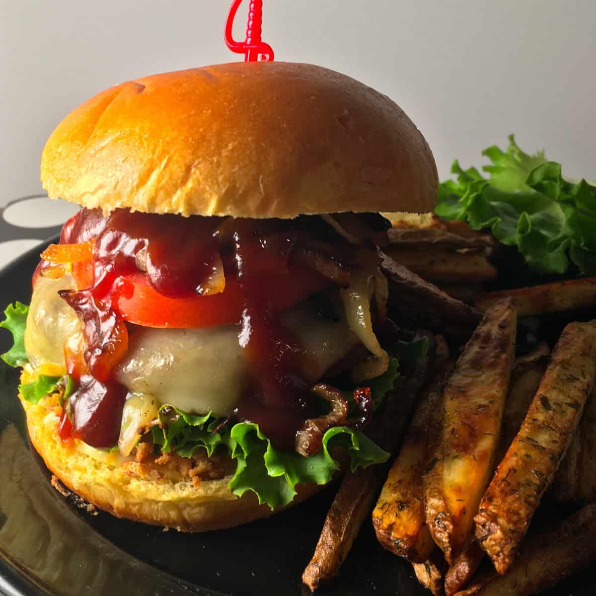 bbq elk burger