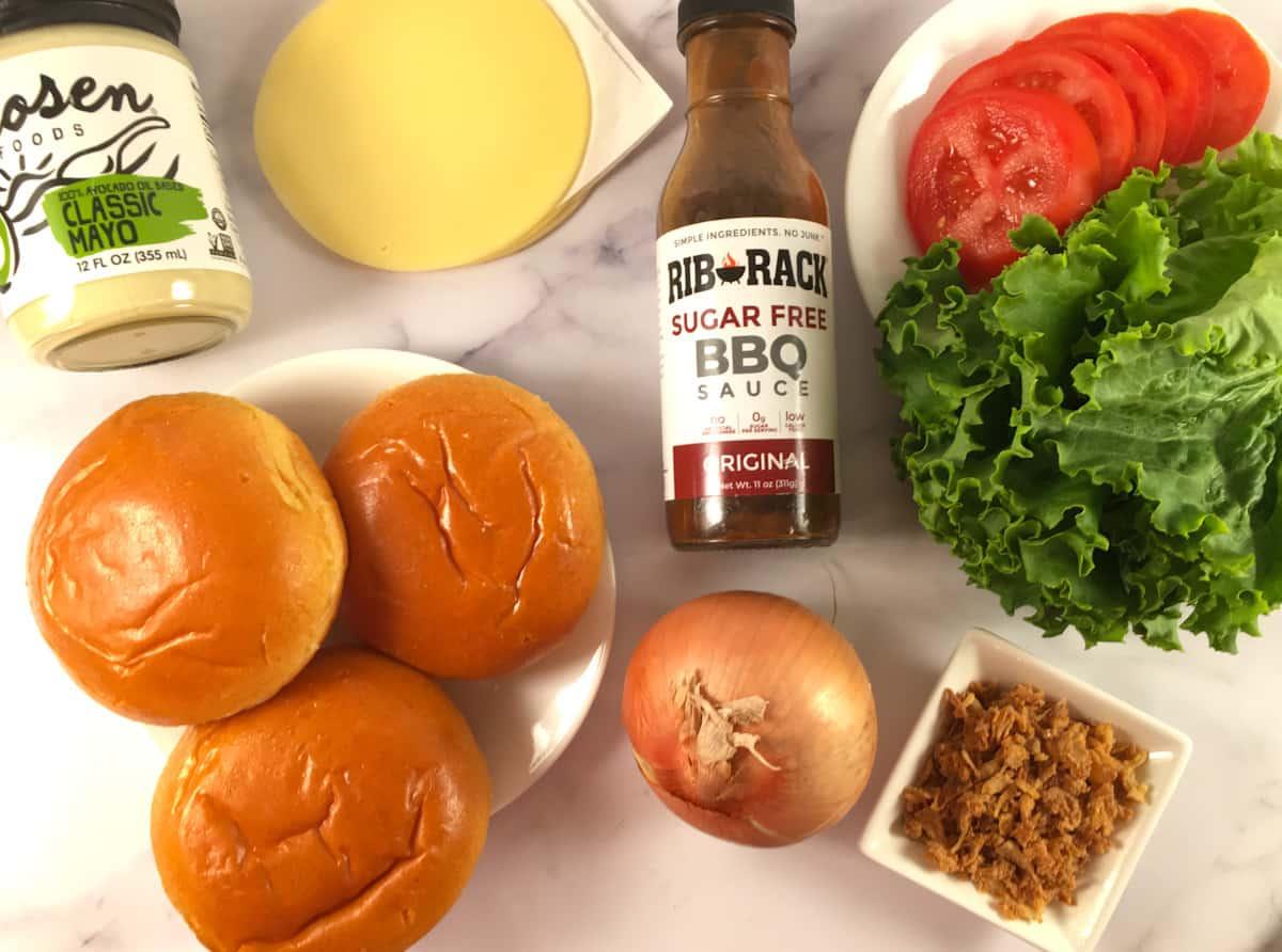 elk burger toppings