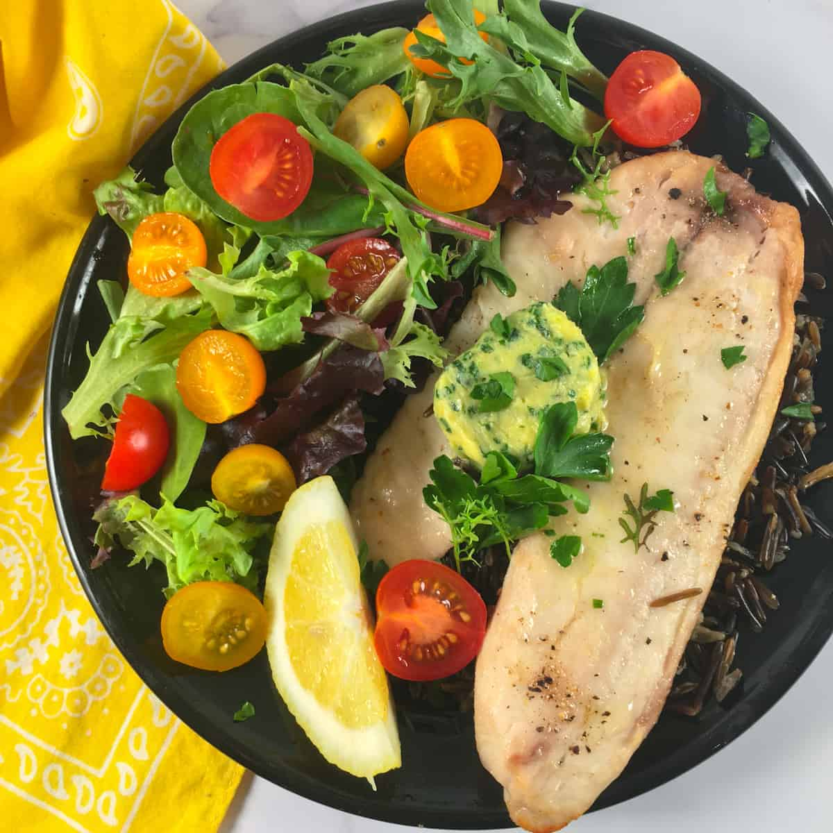 healthy seafood meal