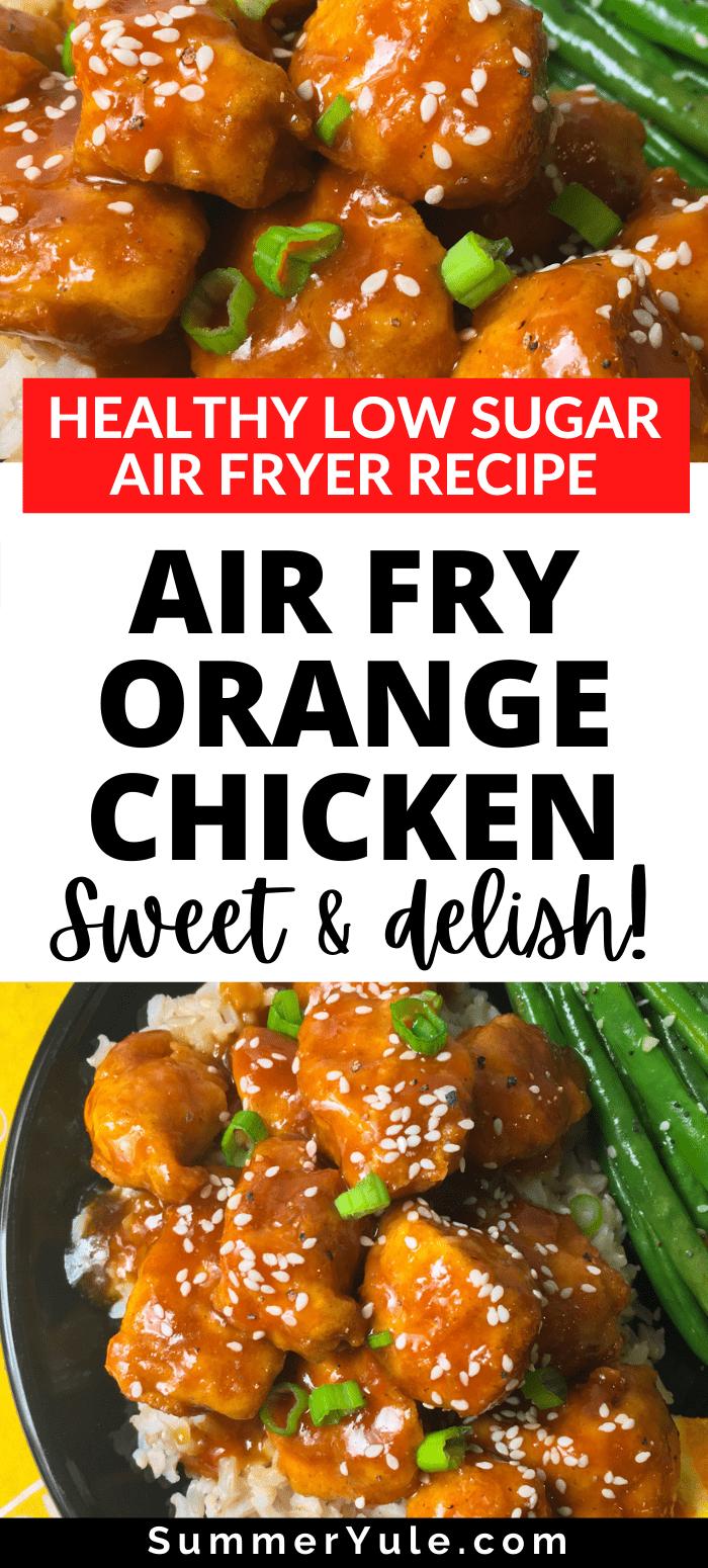 how to make air fryer orange chicken