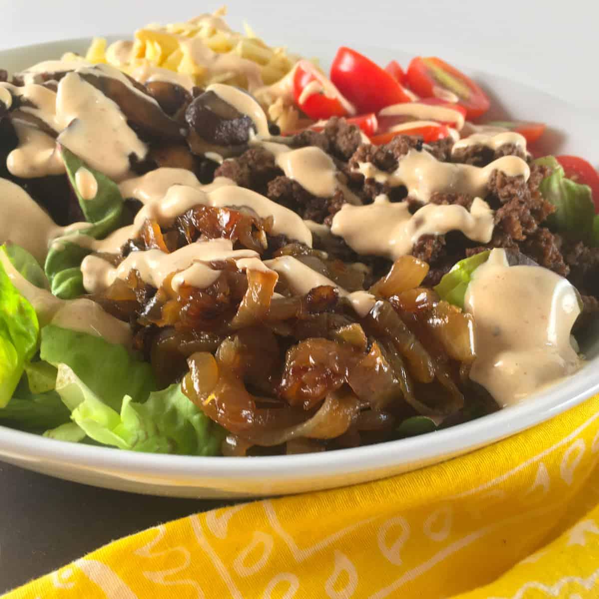 keto big mac salad recipe