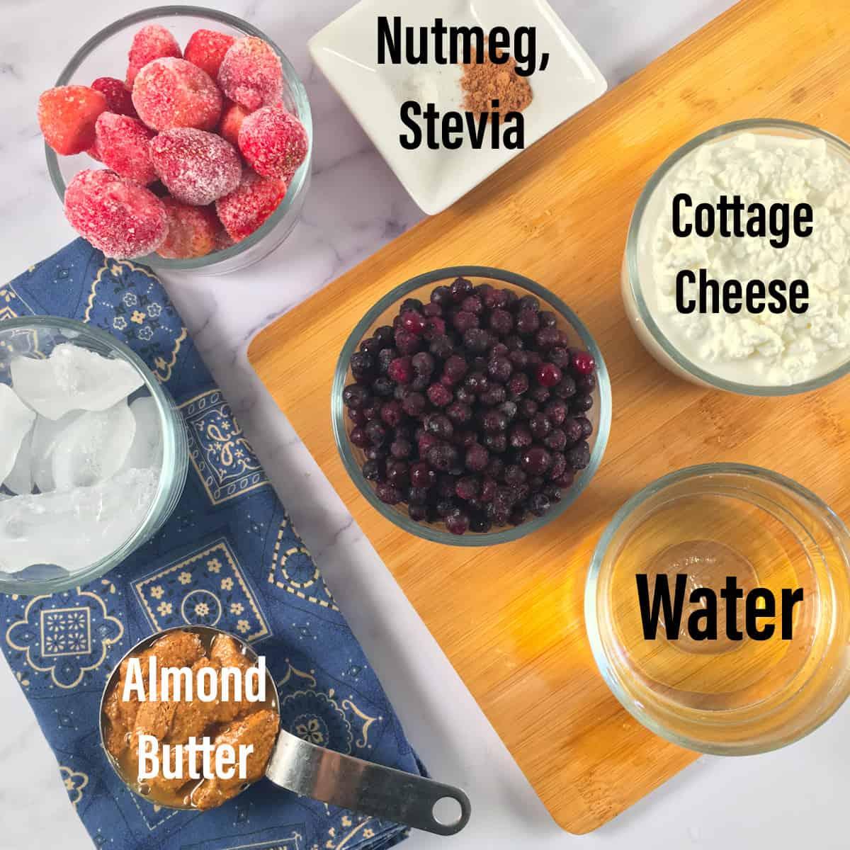keto blueberry smoothie ingredients