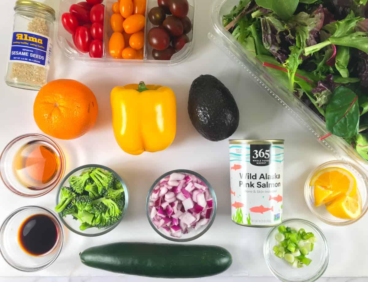 keto salmon salad ingredients