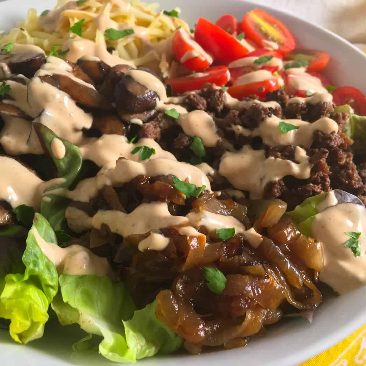 low carb big mac salad