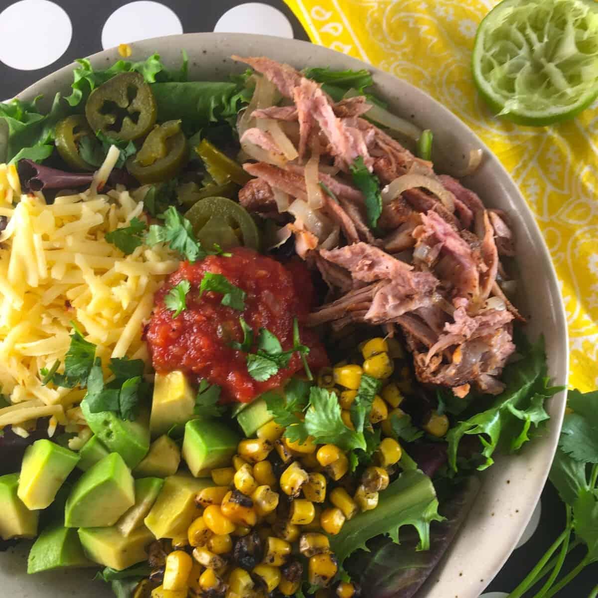 low carb carnitas salad