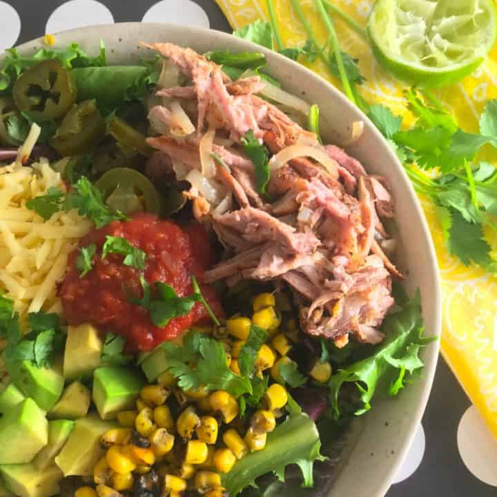 pulled pork carnitas salad