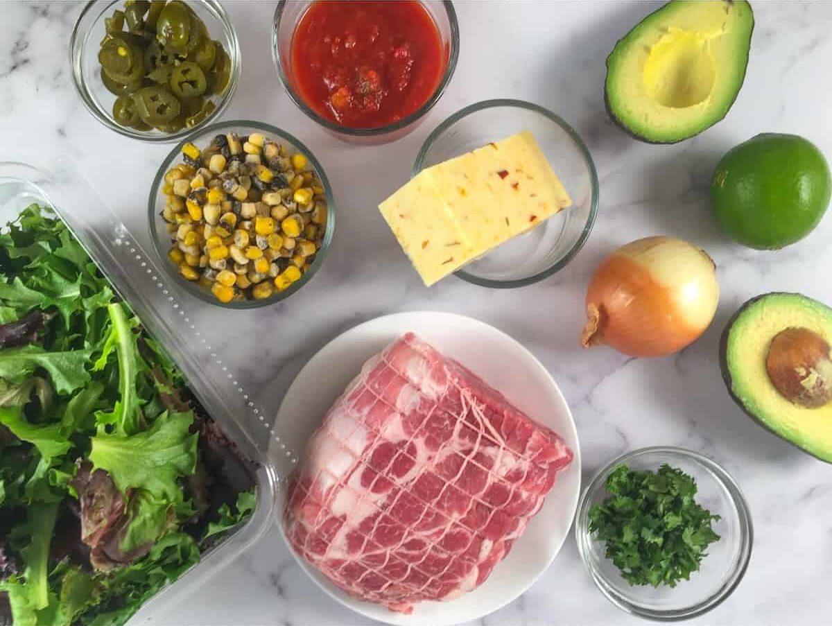 pulled pork salad ingredients