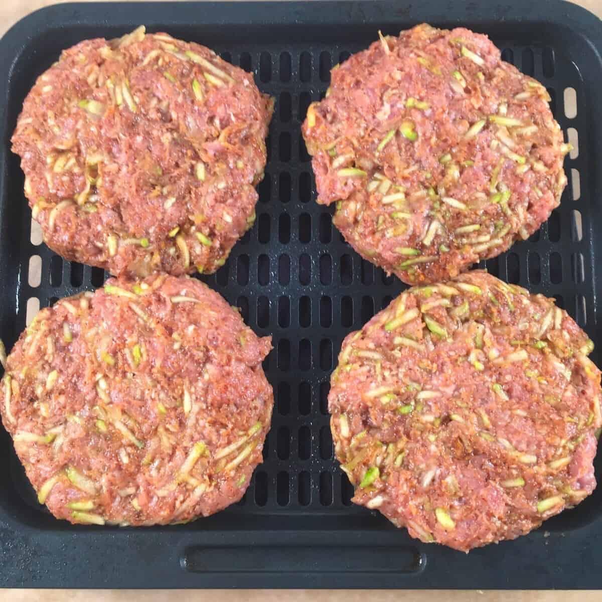 raw turkey burgers