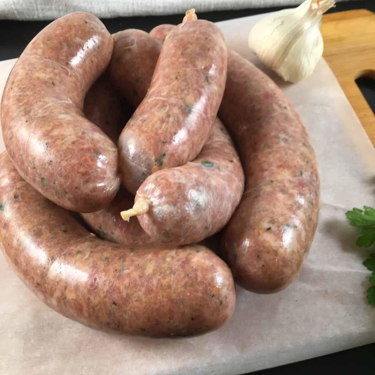 sweet fennel sausages