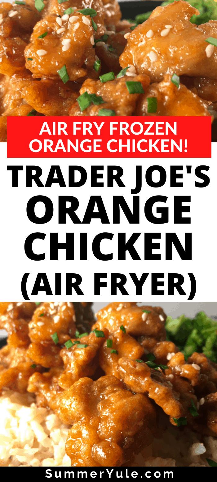 trader joes orange chicken in air fryer