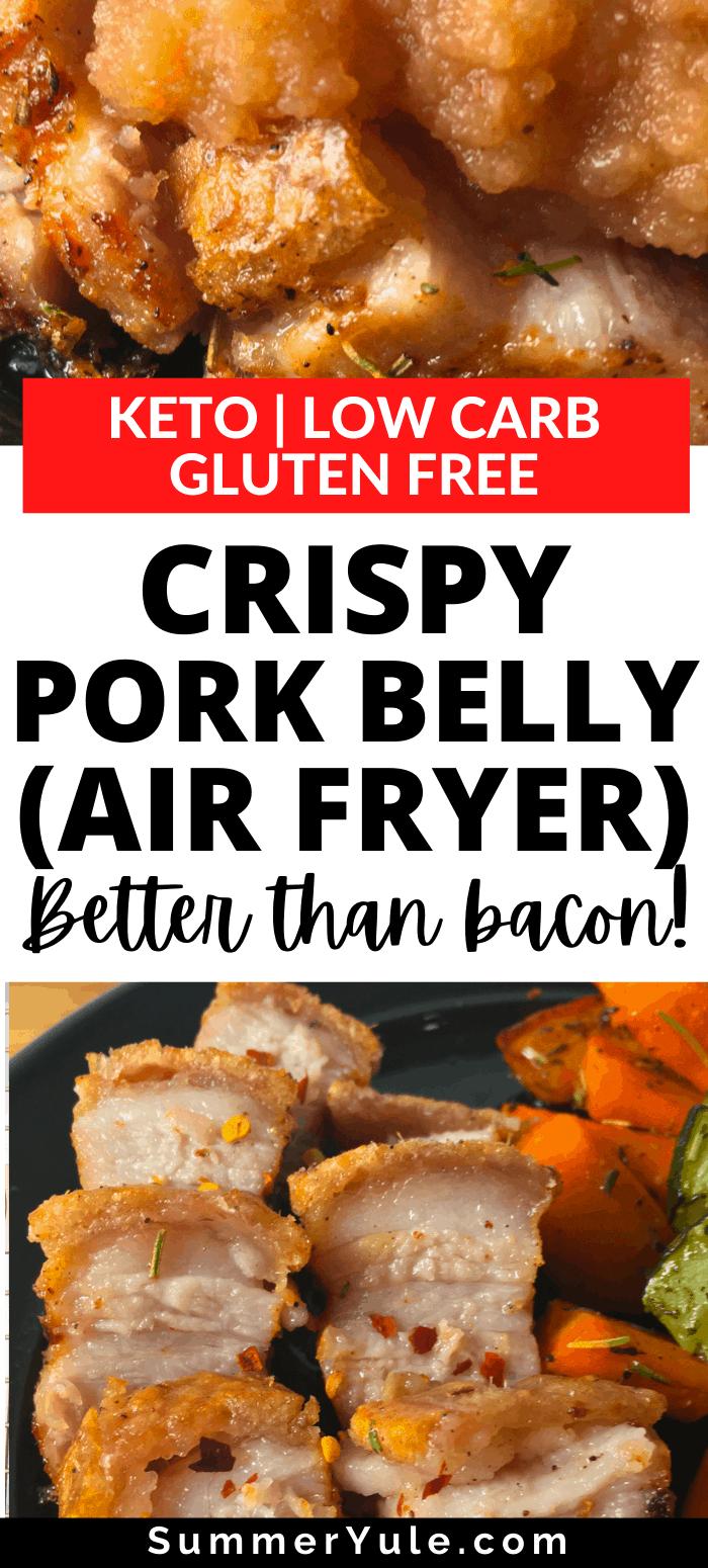 air fryer crispy pork belly