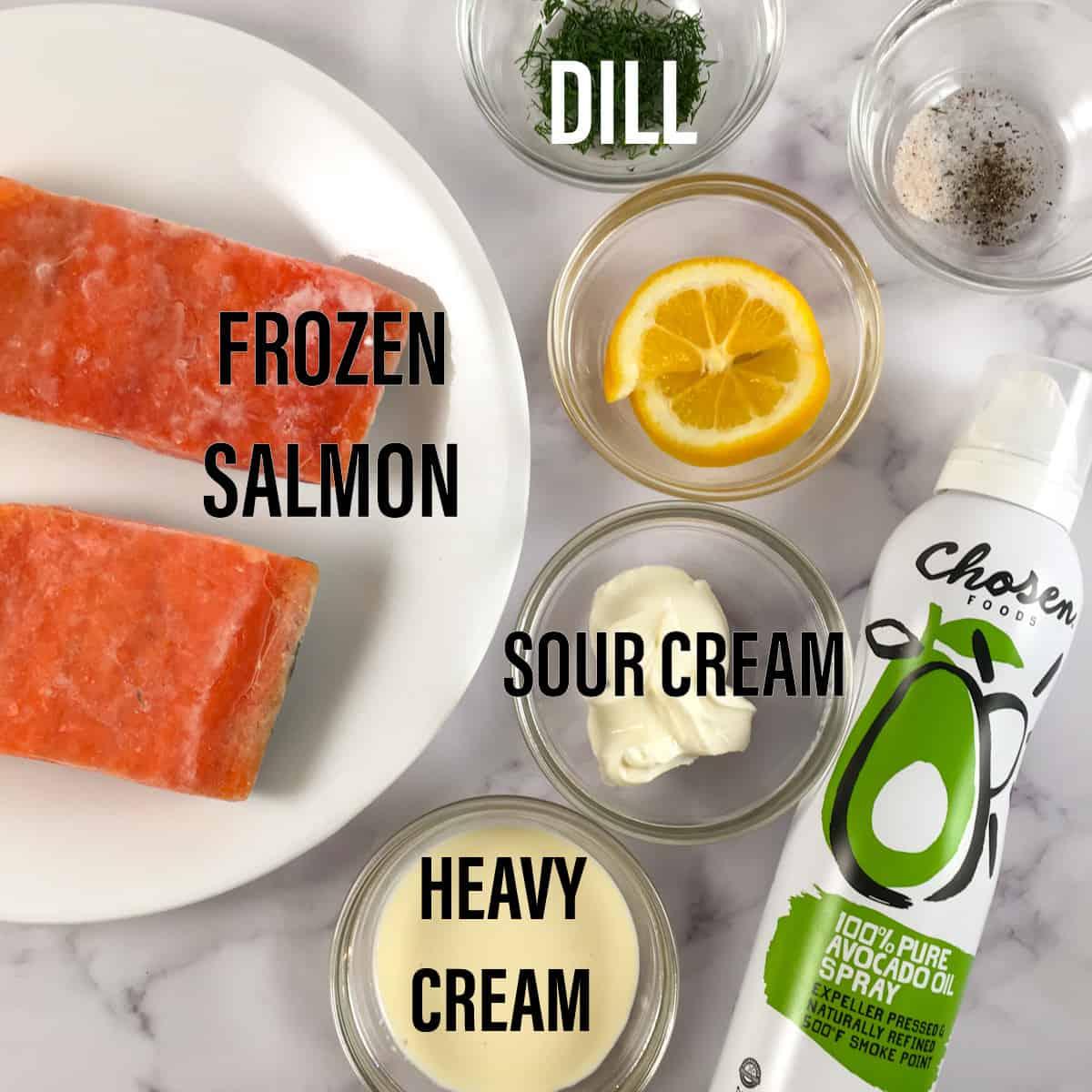 air fryer frozen salmon ingredients