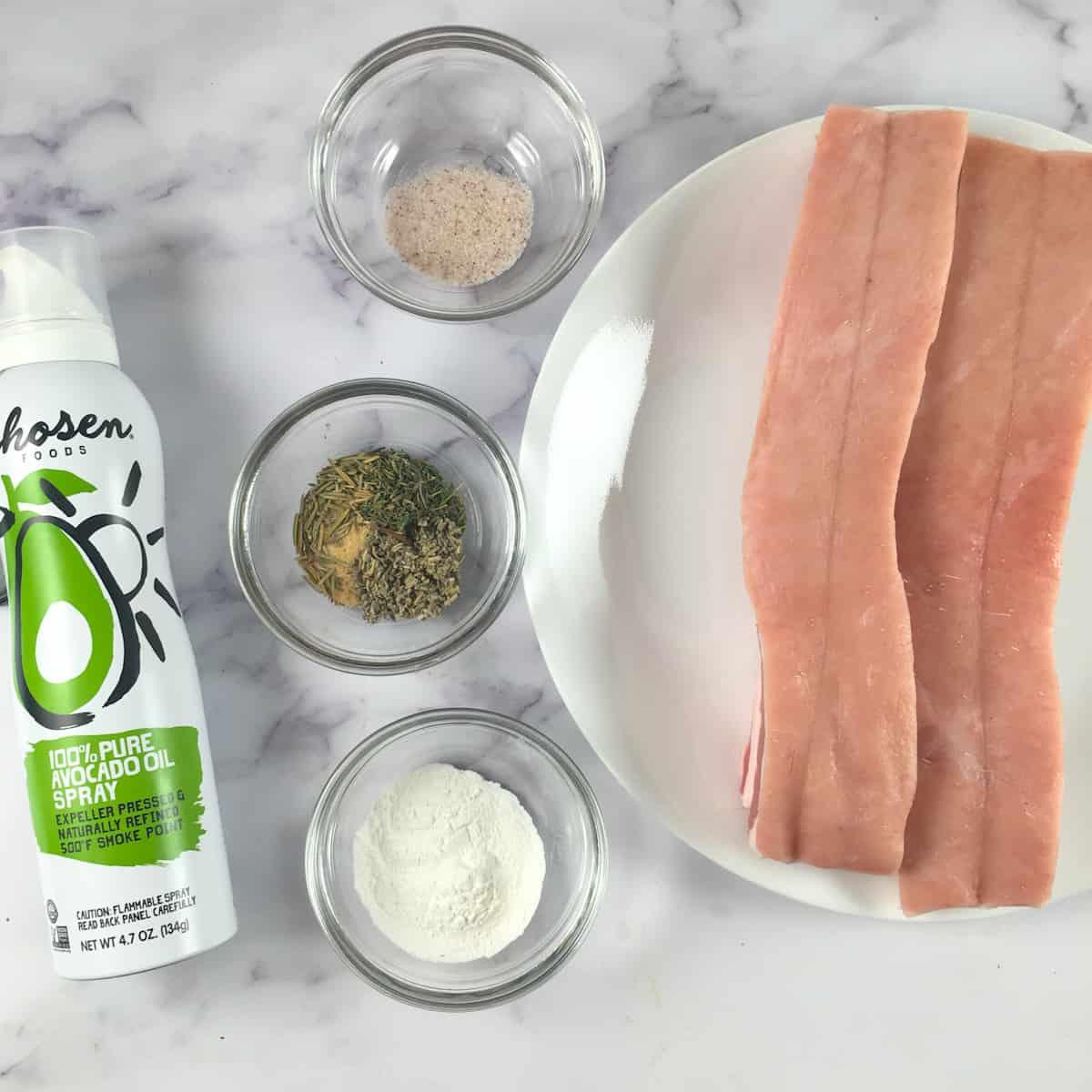 air fryer pork belly ingredients