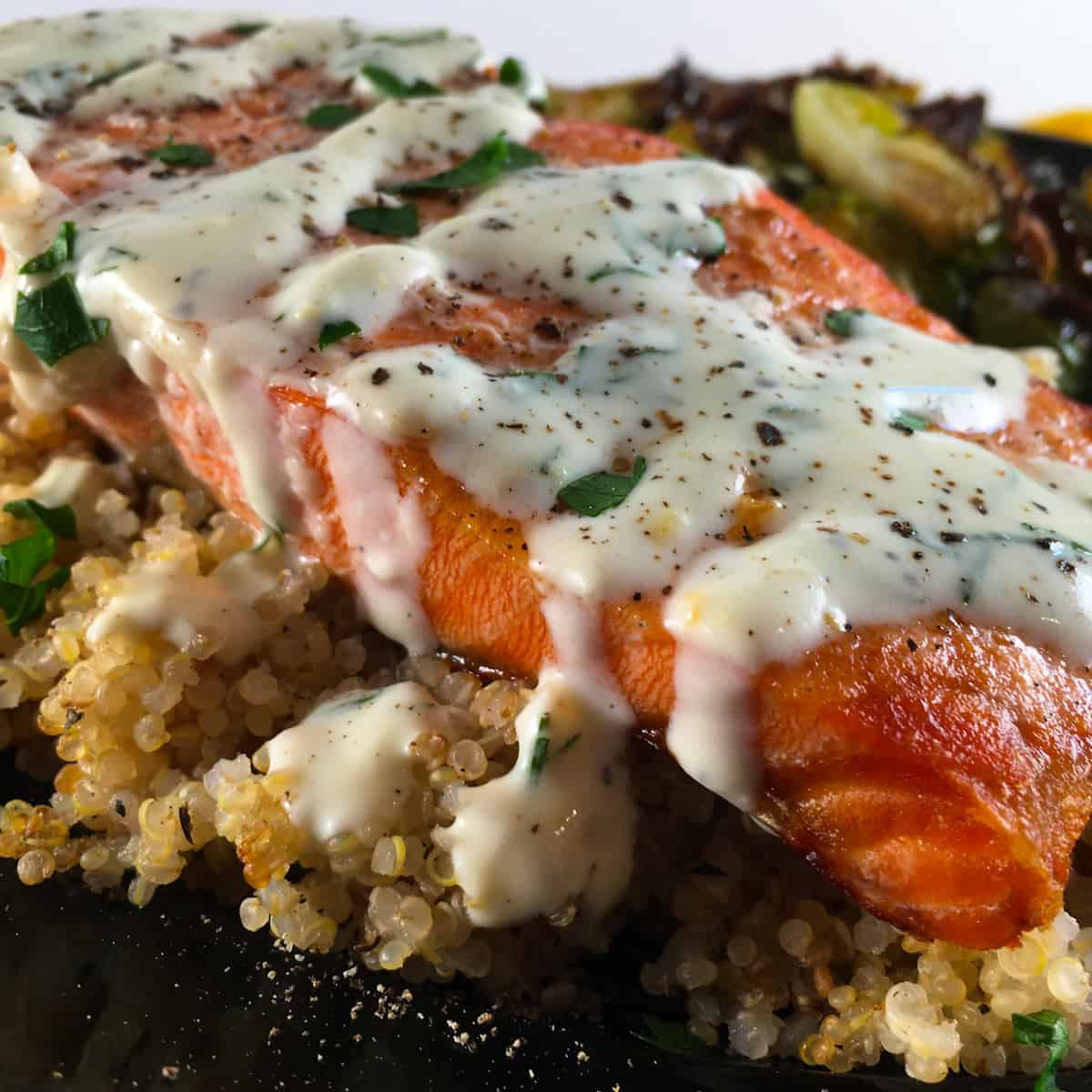 cooked from frozen salmon fillets
