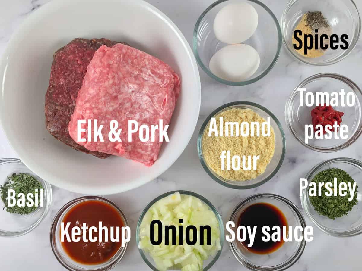 elk meatloaf ingredients
