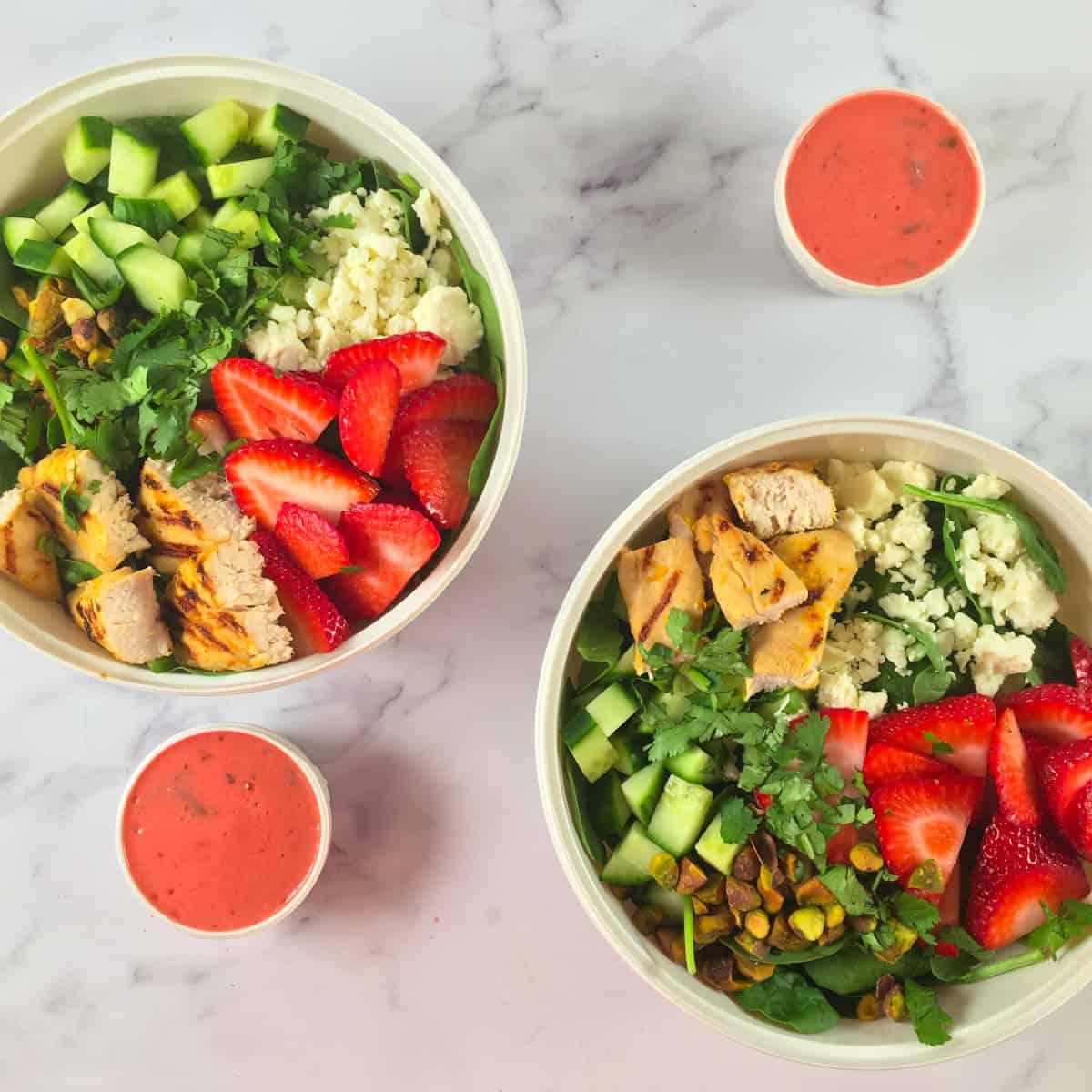 healthy orange chicken salad meal prep