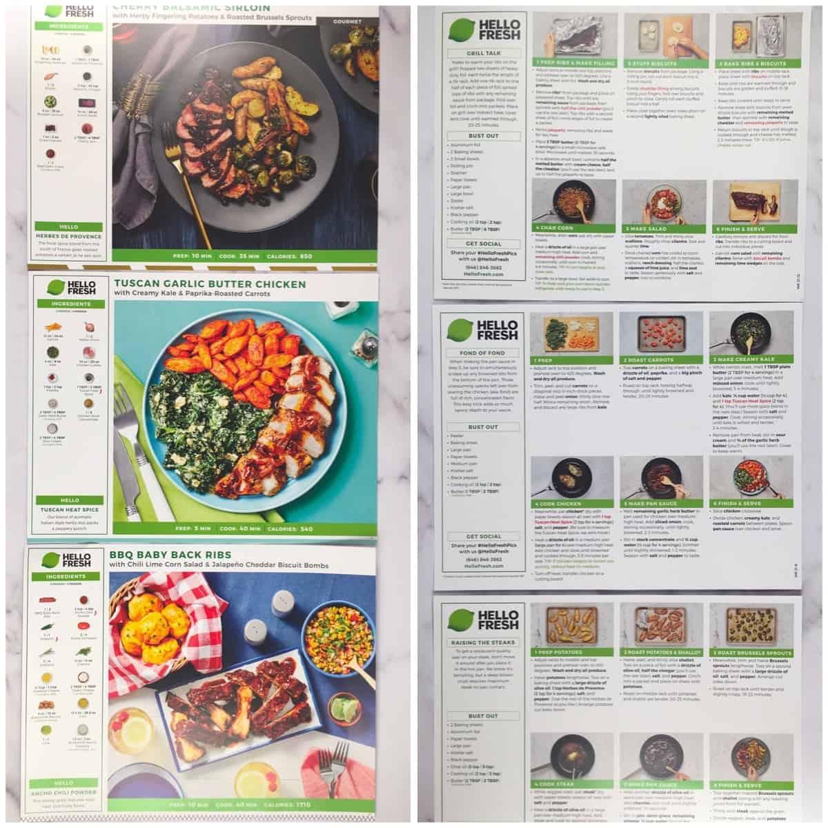 hello fresh recipe cards