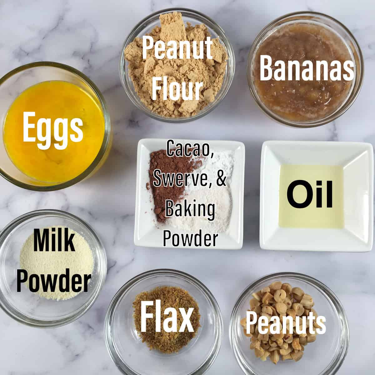 ingredients banana protein muffins