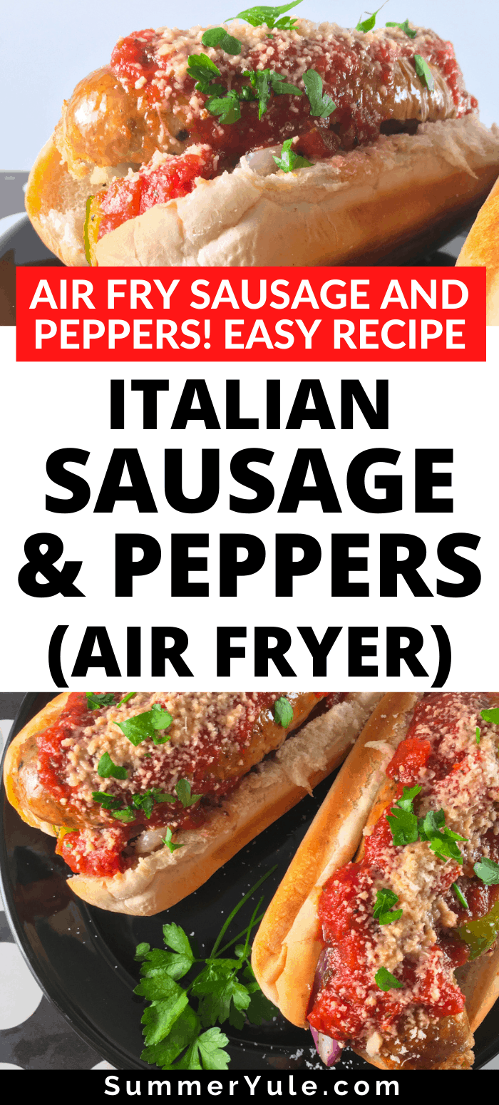 italian sausage peppers air fryer