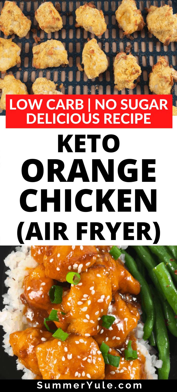 keto orange chicken air fryer