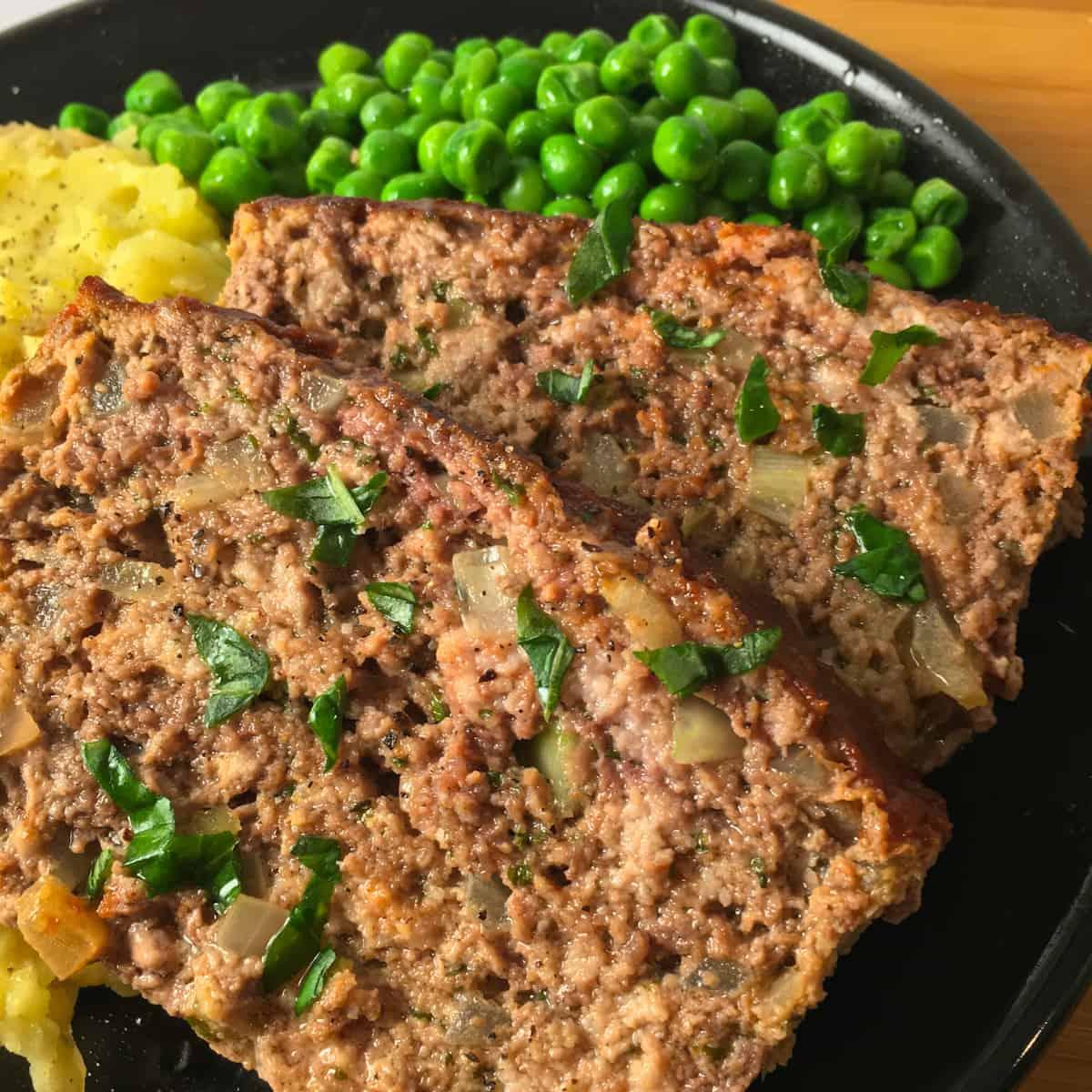 meatloaf peas potatoes