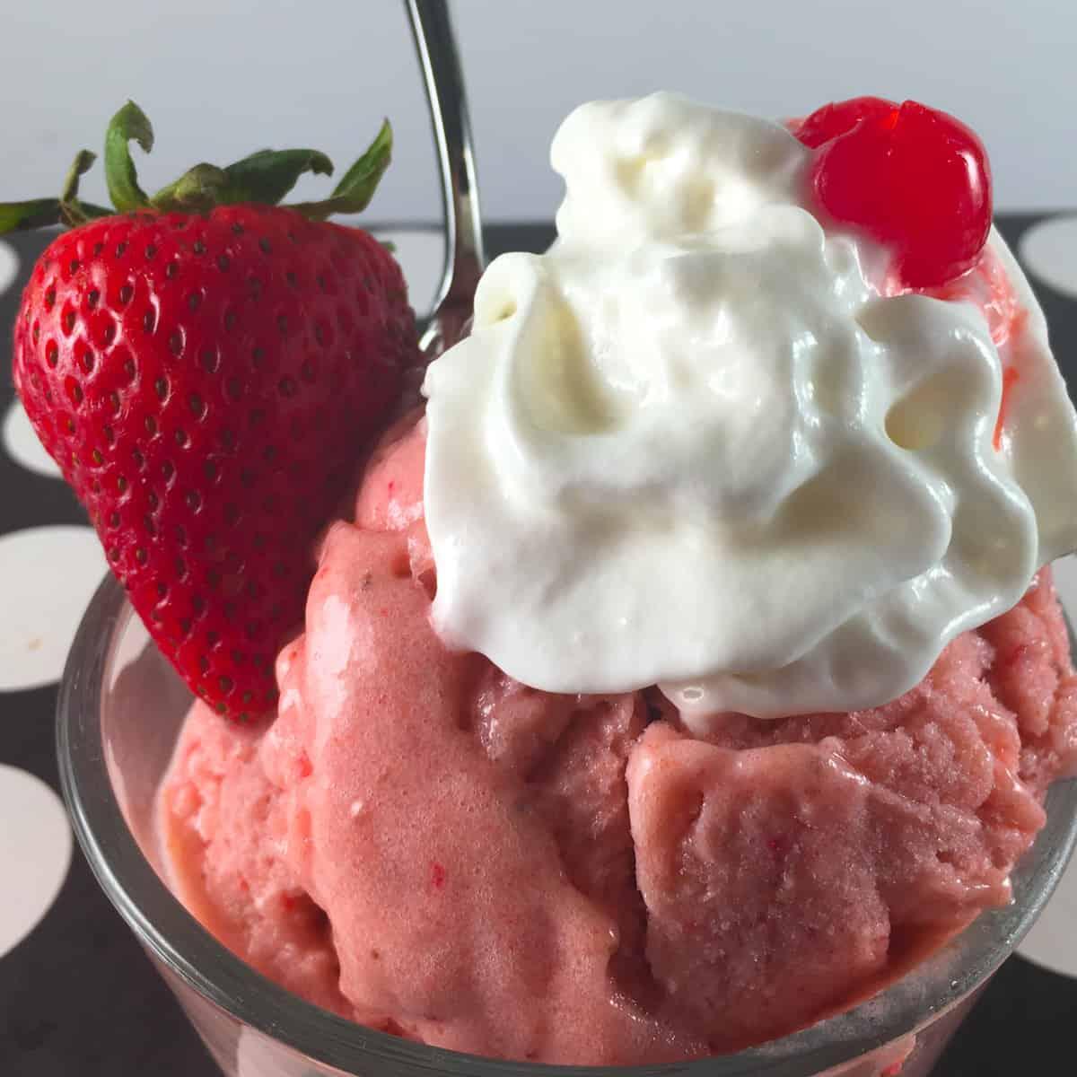 strawberry rhubarb nice cream