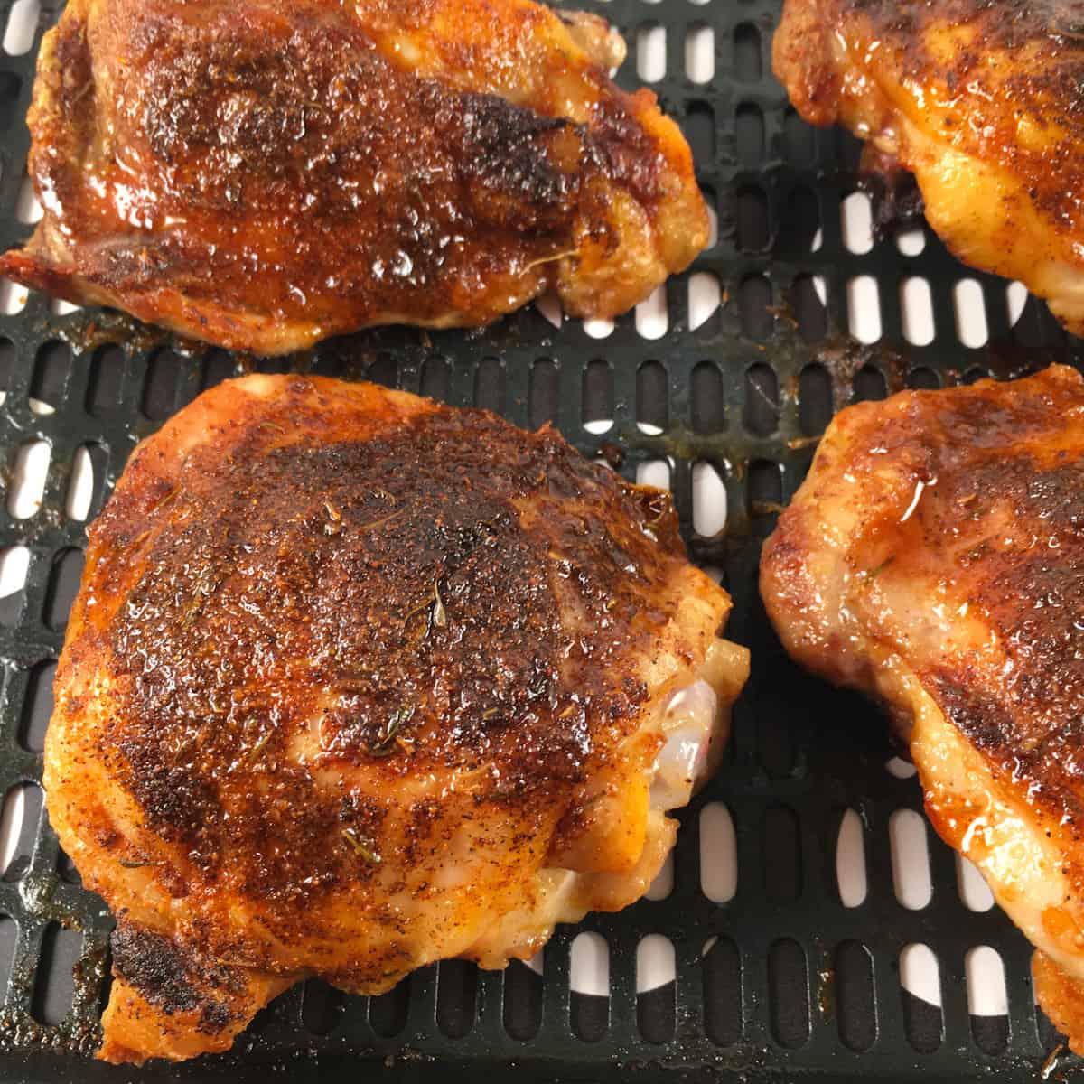 air fry frozen chicken thighs