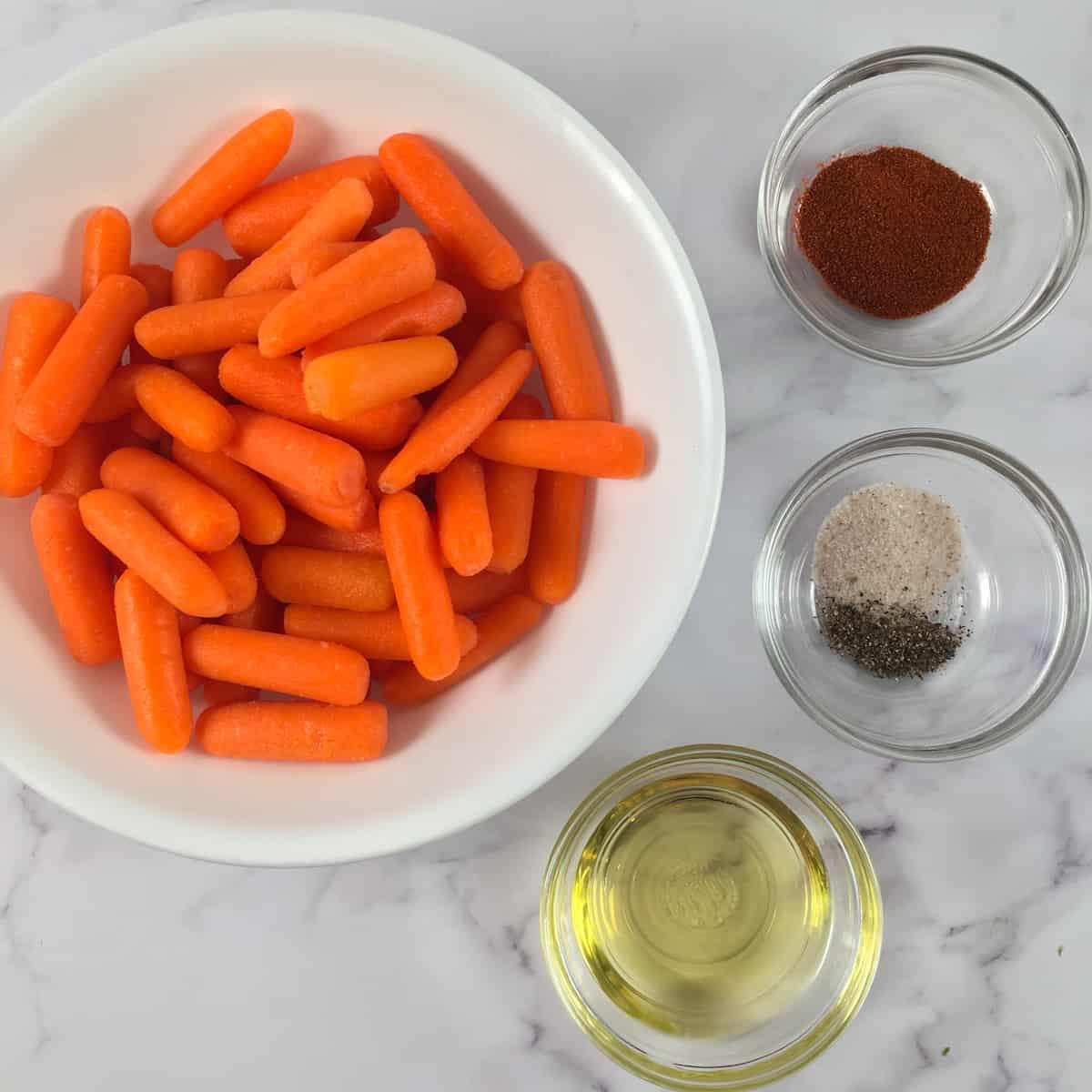 air fryer baby carrots ingredients