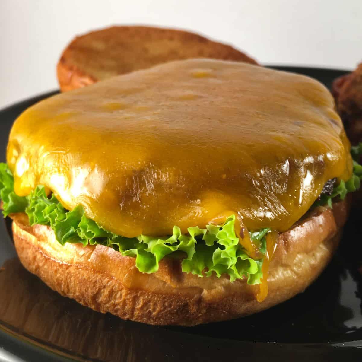 air fryer frozen cheeseburger