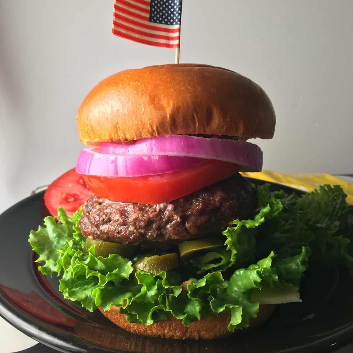 air fryer stuffed burger recipe
