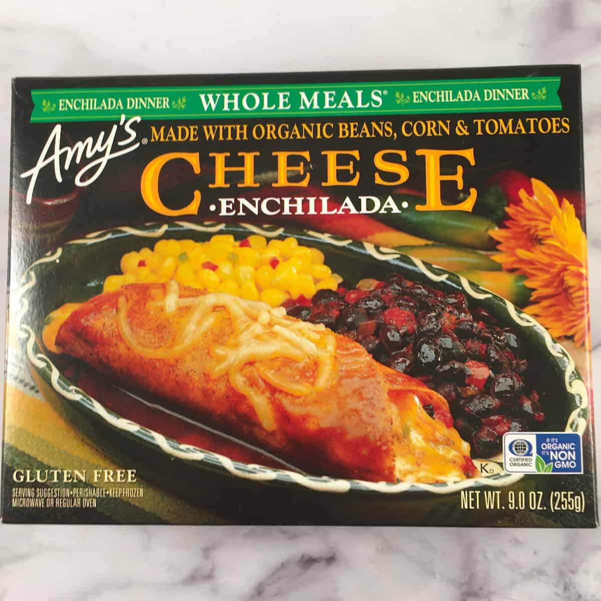 amy's vegetarian enchilada meal